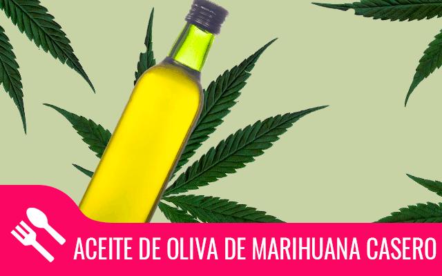 Aceite de oliva marihuana casero