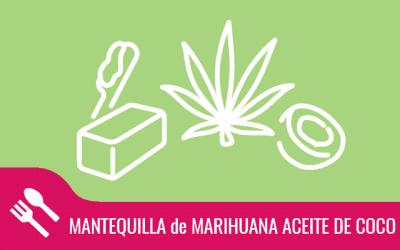 Mantequilla de marihuana para veganos con aceite de coco
