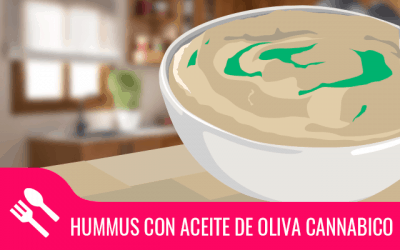Hummus con aceite de oliva cannábico